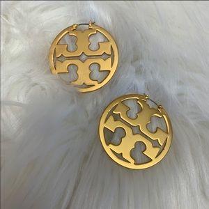 Tory Burch Gold Miller Hoop Earrings - New